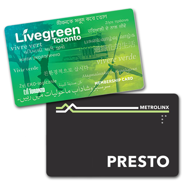 Presto and Livegreen Cards